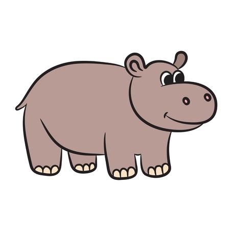 wilderness area: Cartoon hippo. Vector illustration