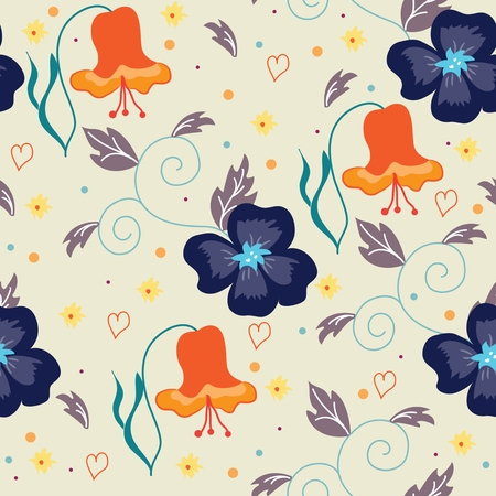 Abstract seamless pattern with floral background. Vector illustration