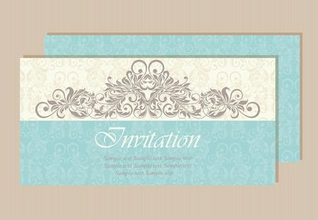 Schöne Hochzeitseinladungskarte.