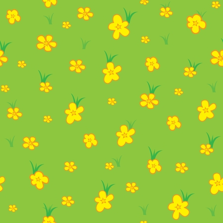 yellowrn: Seamless pattern with floral background. Vector illustration Illustration