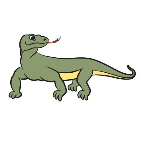 dragon: Illustration of varan (komodo dragon). Vector