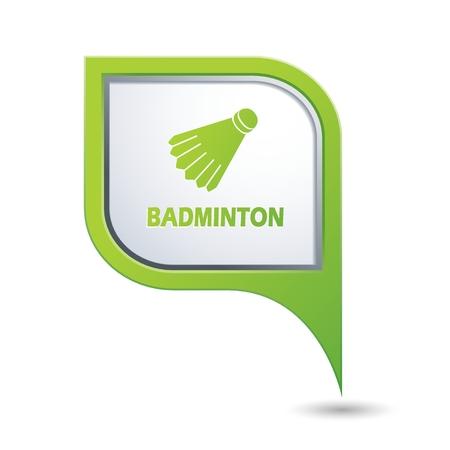 shuttlecock: Badminton icon. Illustration
