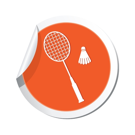Badminton icon. Illustration