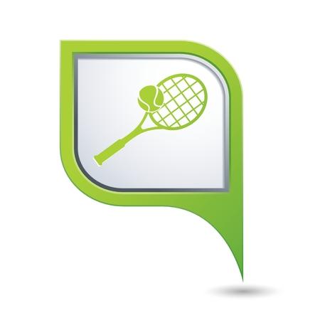 backhand: Tennis racket and ball icon.