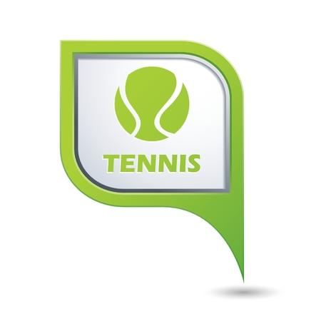 backhand: Tennis ball icon.