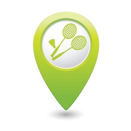 vectorrn: Badminton icon. Illustration