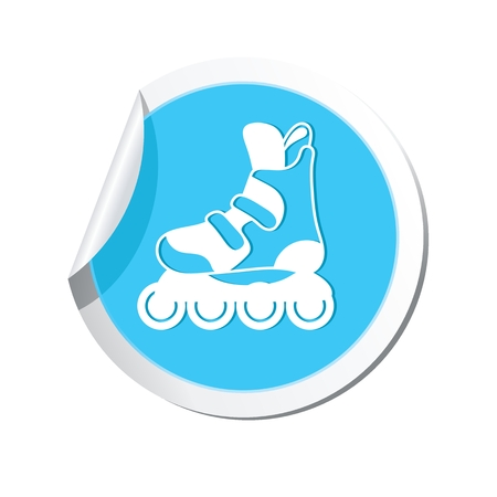 casters: Roller skate boot icon. Illustration