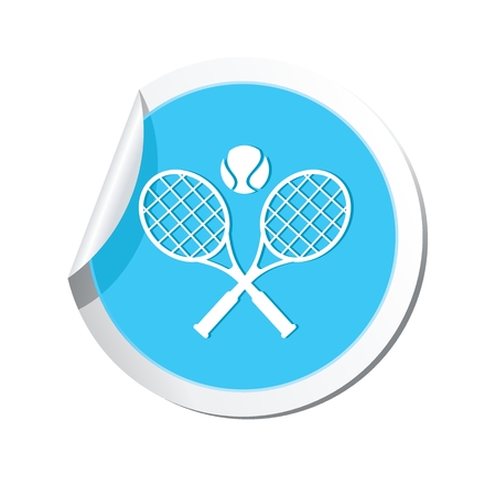 vectorrn: Tennis racket and ball icon.