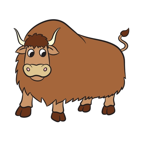 yak: Illustration of yak on a white background. Vector