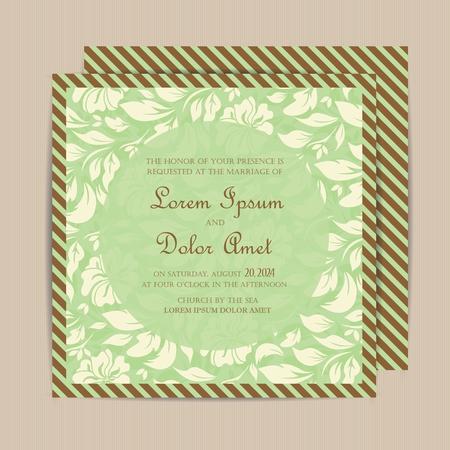 Hochzeit Jahrgang Einladungskarte oder Mitteilung.