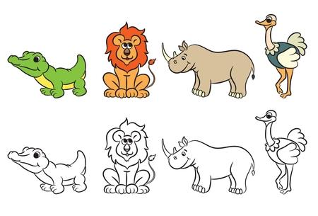 Erfreut Malbuch Zoo Tiere Galerie - Framing Malvorlagen ...