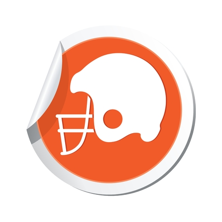 pigskin: American football icon. Illustration