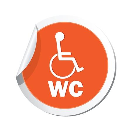 paralyze: Restroom icon. Illustration