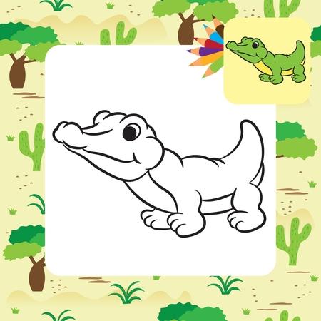 Avestruz Linda De La Historieta. Dibujo Para Colorear. Ilustración ...