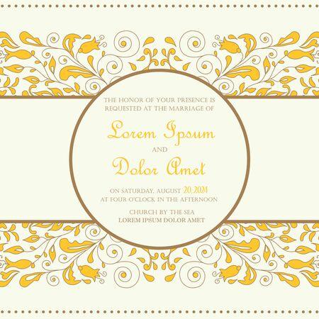 announcement: Wedding vintage invitation card or announcement