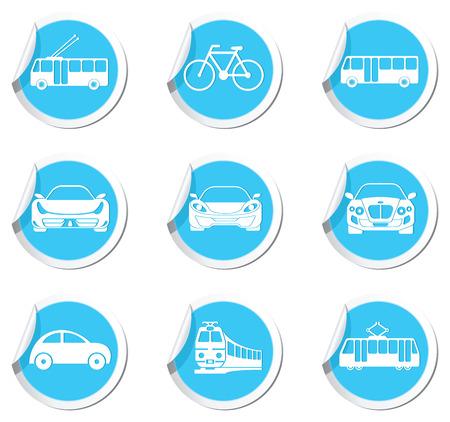 transportation icons: Transportation icons. Vector illustration.