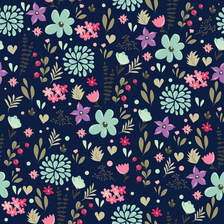 Abstract seamless pattern with floral background. Vector illustration Reklamní fotografie - 49513878