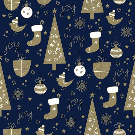 Naadloze Kerst patroon  Stock Illustratie