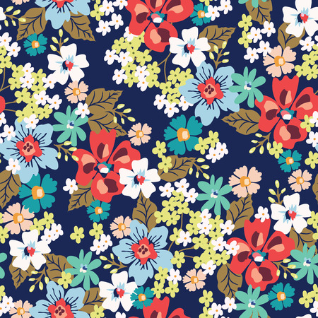 원활한 꽃 패턴입니다. 벡터 일러스트 레이 션