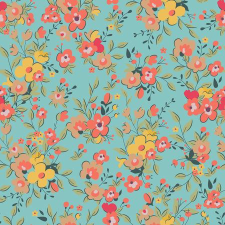 Naadloze bloemen patroon. Vector illustratie Stock Illustratie