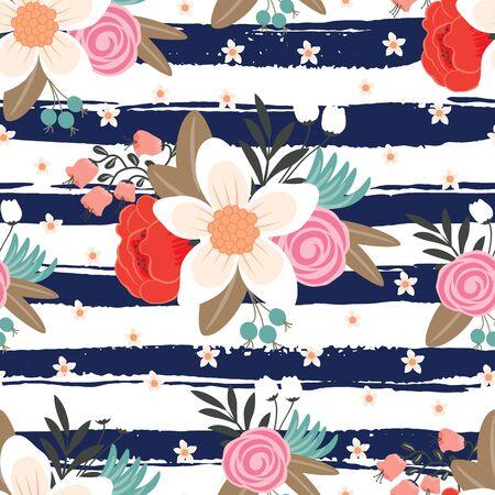Seamless vintage sfondo floreale. illustrazione di vettore