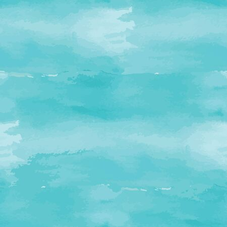 pastel color: Blue abstract watercolor seamless background. Vector illustration Illustration