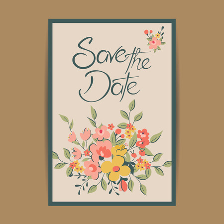 invitation cards: Wedding invitation and save the date cards. Also can be used as greeting cards, birthday cards or party invitations. Illustration