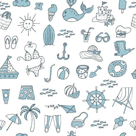 vector pattern: Summer seamless pattern. Vector illustration
