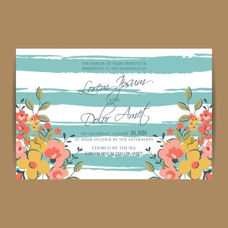 announcement: Wedding invitation or announcement card Illustration