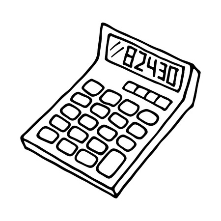 calculator icon outlined on white background royalty free cliparts Pool Equipment Icons calculator icon outlined on white background stock vector 59493518
