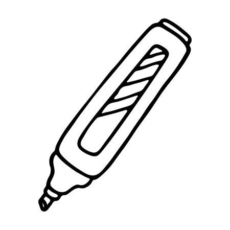 marker pen: Marker pen icon. Outlined on white background.