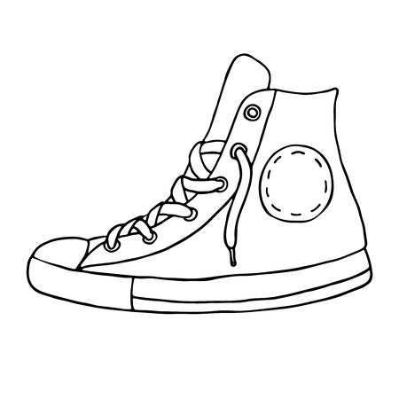 outlined: Gumshoes icon. Outlined on white background.