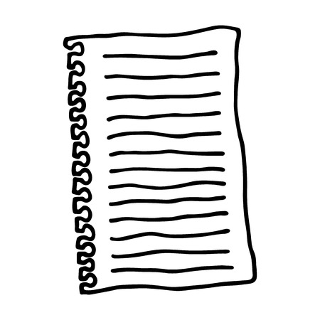 outlined: Sheet of paper. Outlined on white background. Illustration