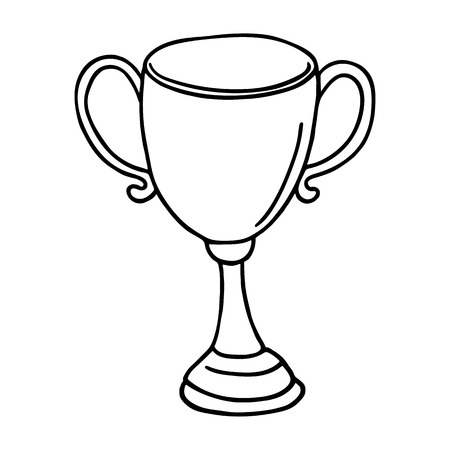 outlined: Cup icon. Outlined on white background.
