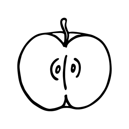 outlined: Apple icon. Outlined on white background.