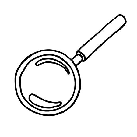 circumference: Magnifier icon. Vector illustration Illustration