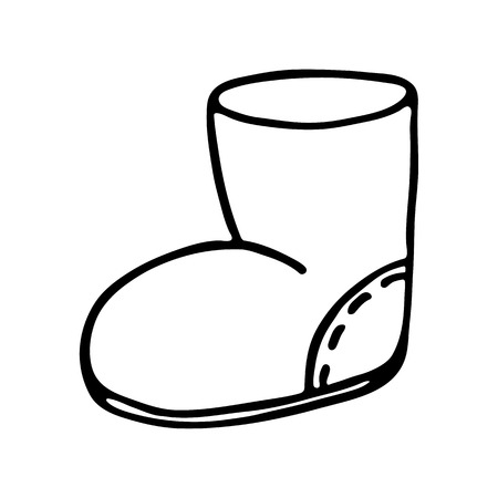 Santa boot icon on white background. Vector illustration