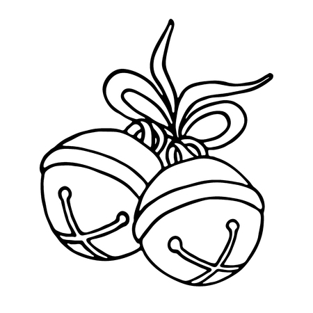 jingle bells: Jingle bells with bow on a white background. Vector illustration