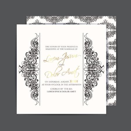 Wedding invitation or announcement card Vettoriali