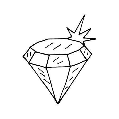 Diamond icon. Vector illustration Illustration