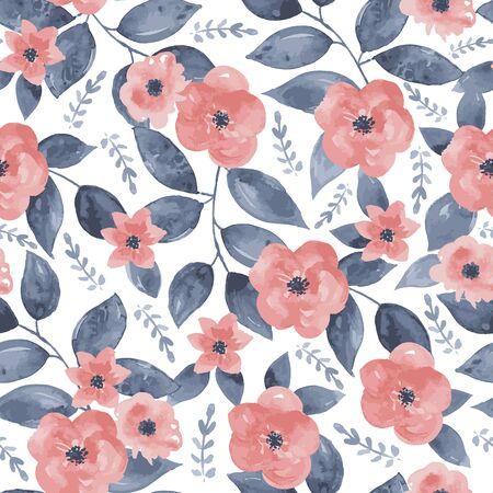 Seamless vintage floral background. Vector illustration