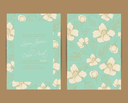 illustration invitation: Wedding invitation or announcement card. Vector illustration Illustration