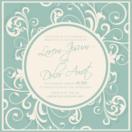 save as: Wedding invitation and save the date cards. Also can be used as greeting cards, birthday cards or party invitations. Illustration