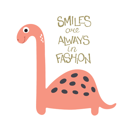 triceratops: Cute cartoon dino illustration. Smiles are always in fashion