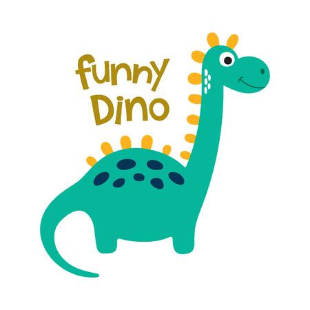 triceratops: Cute cartoon dino vector illustration. Funny dino Illustration