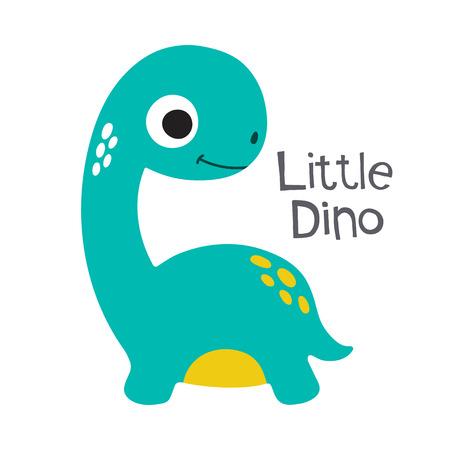 triceratops: Cute cartoon dino vector illustration. Little dino Illustration