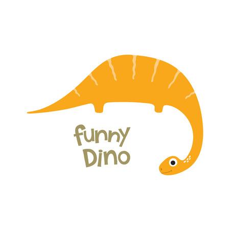Illustration de dinosaure dessin animé mignon. Banque d'images - 88581912