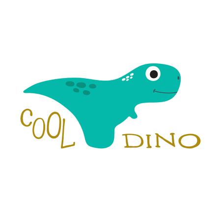 Cute cartoon dinosaur illustration.