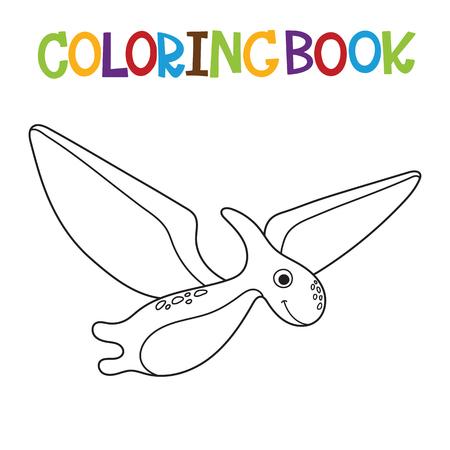 Cute dino coloring book. Vector illustration