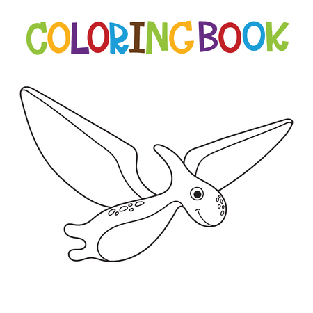 Cute dino coloring book. Vector illustration